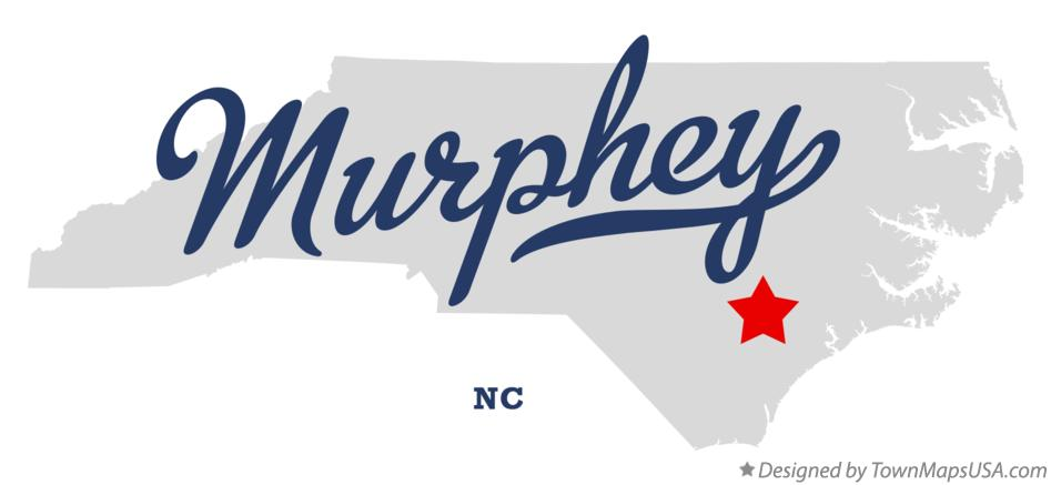 Map of Murphey North Carolina NC
