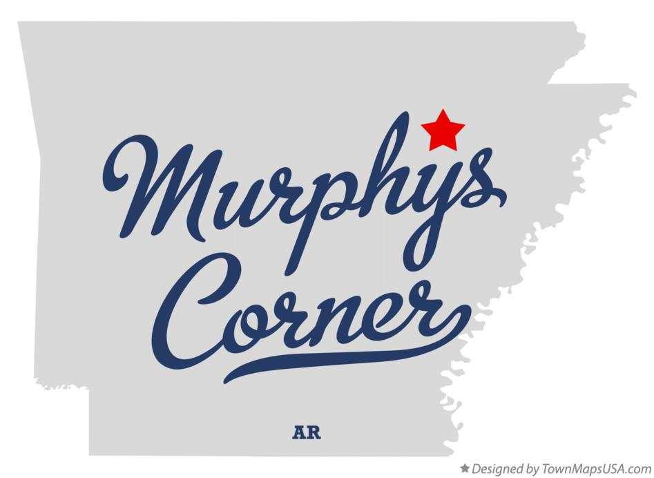 Map of Murphys Corner Arkansas AR
