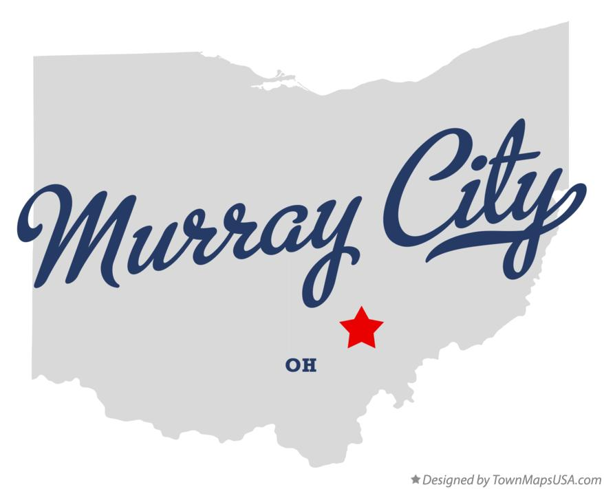 Map of Murray City Ohio OH