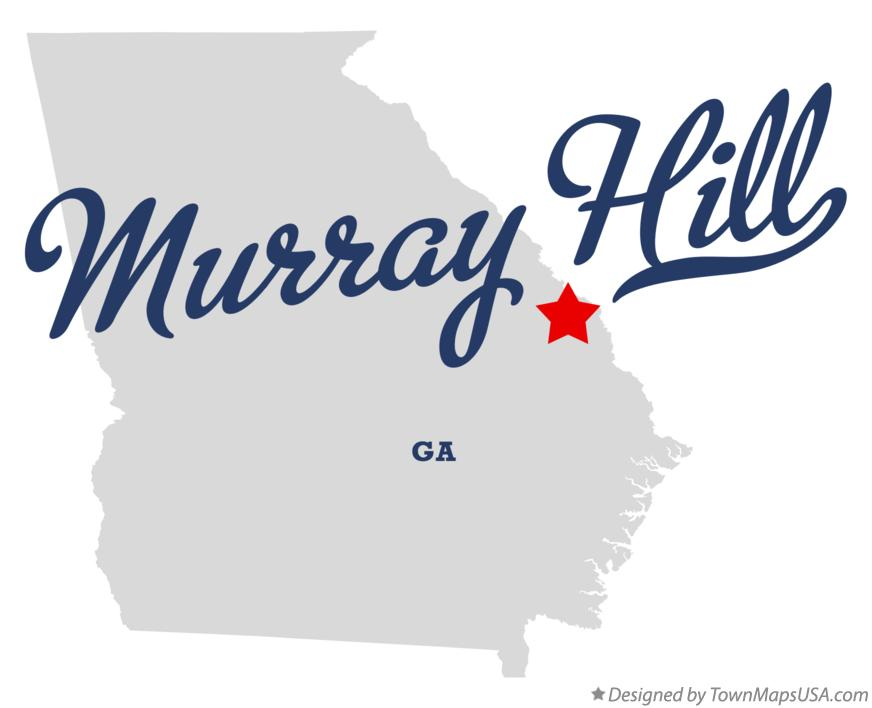 Map of Murray Hill Georgia GA