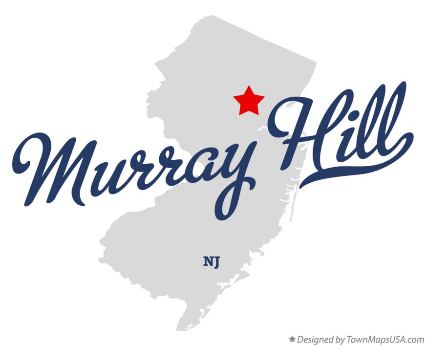 Map of Murray Hill New Jersey NJ