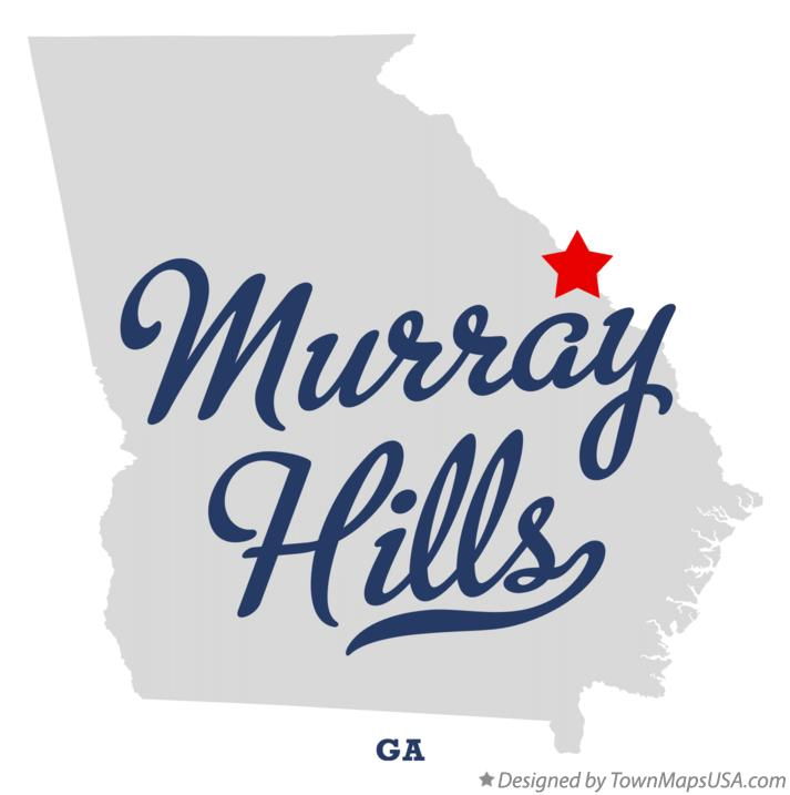 Map of Murray Hills Georgia GA