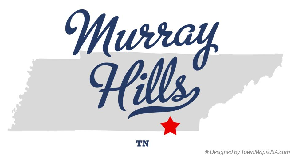 Map of Murray Hills Tennessee TN