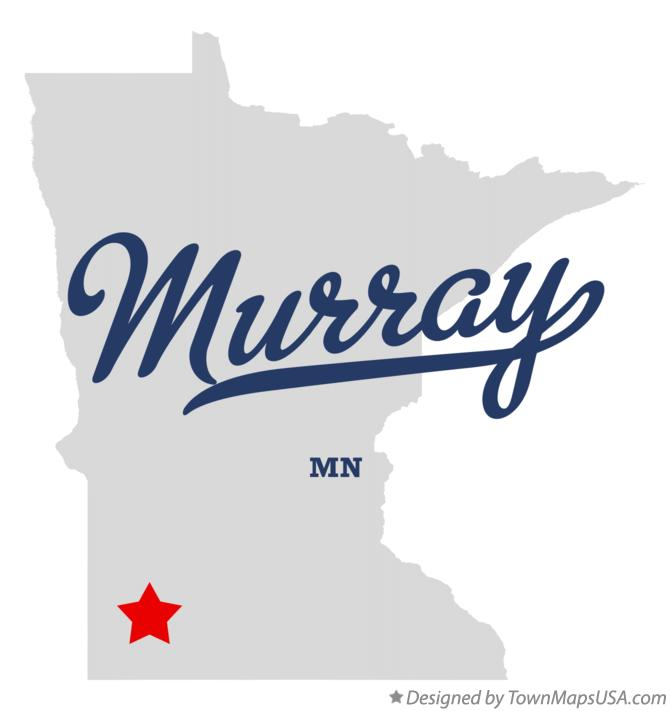 Map of Murray Minnesota MN