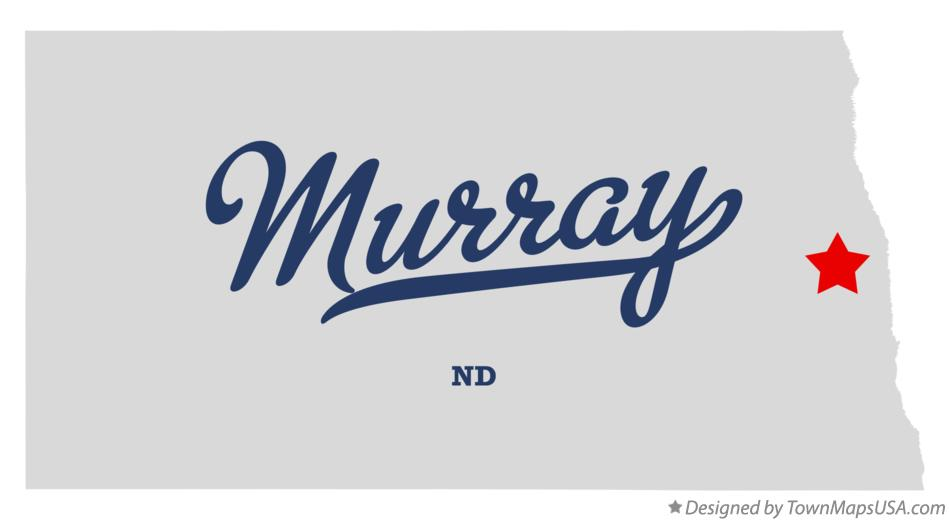 Map of Murray North Dakota ND