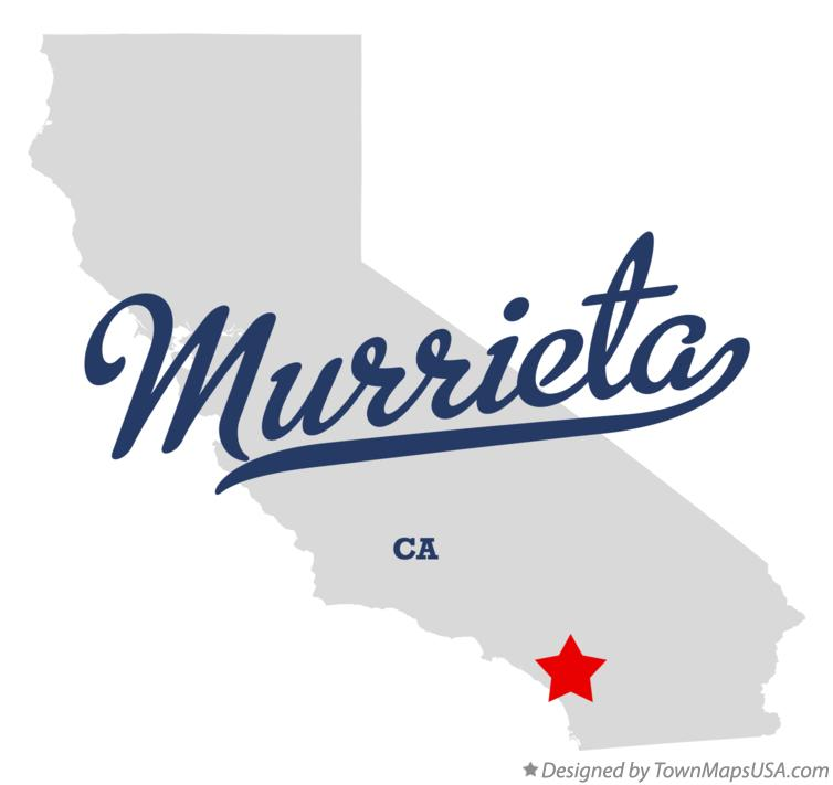 Map of Murrieta California CA