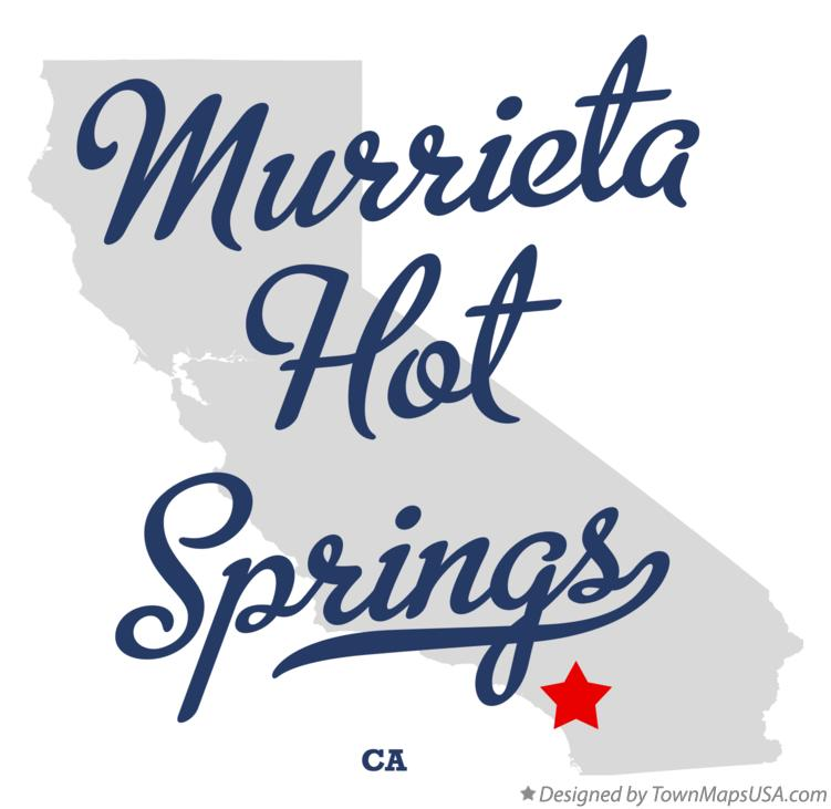 Map of Murrieta Hot Springs California CA
