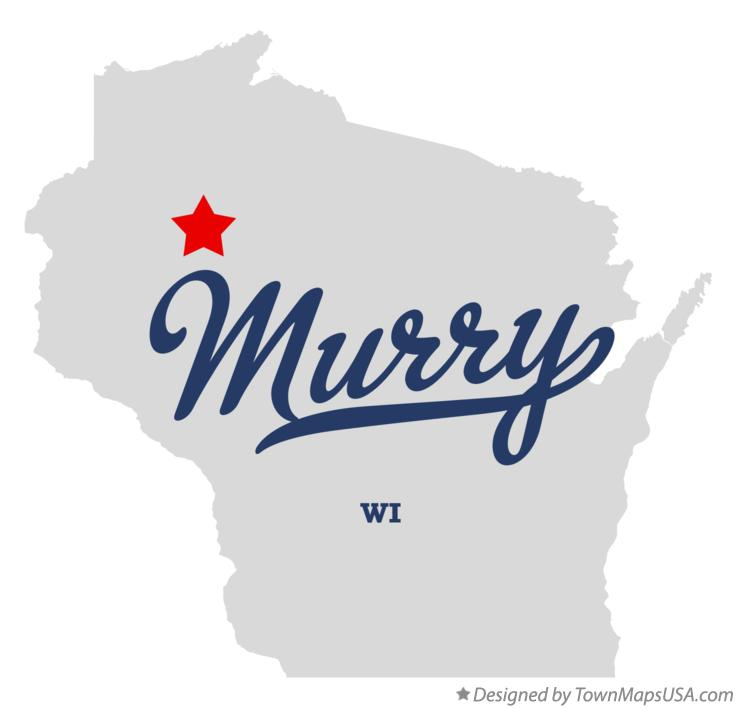 Map of Murry Wisconsin WI