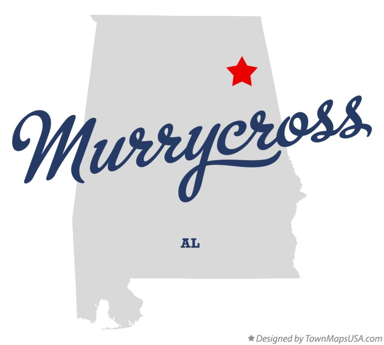 Map of Murrycross Alabama AL