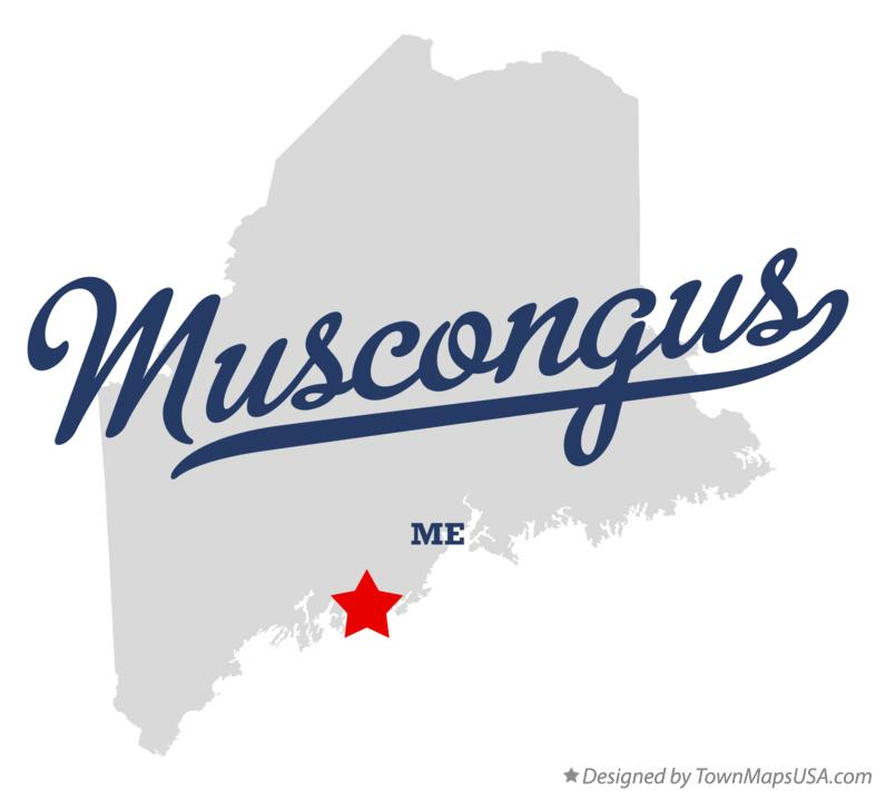 Map of Muscongus Maine ME