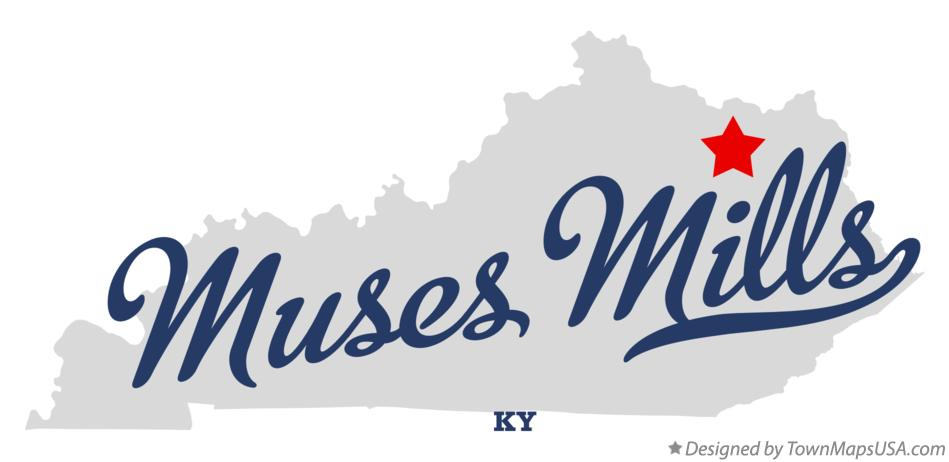Map of Muses Mills Kentucky KY