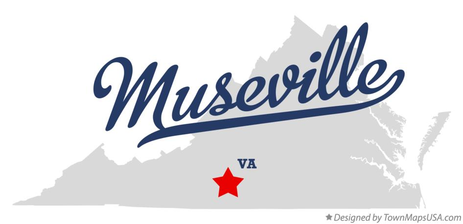 Map of Museville Virginia VA