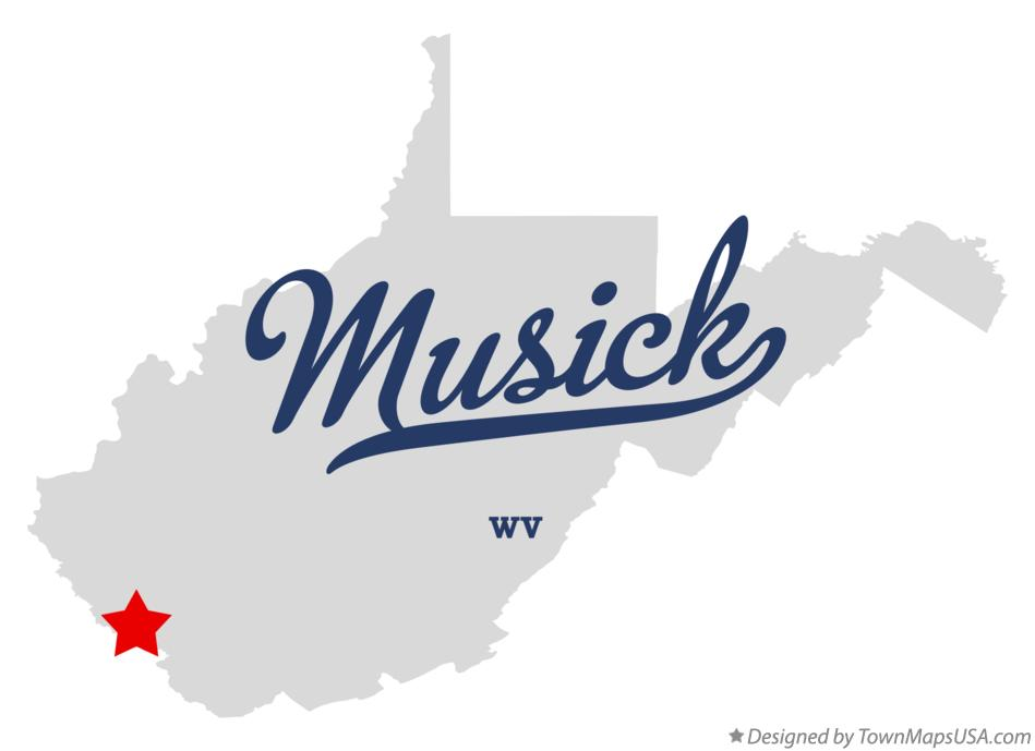 Map of Musick West Virginia WV