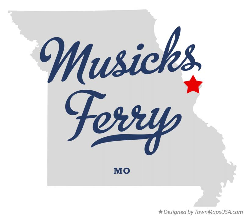 Map of Musicks Ferry Missouri MO