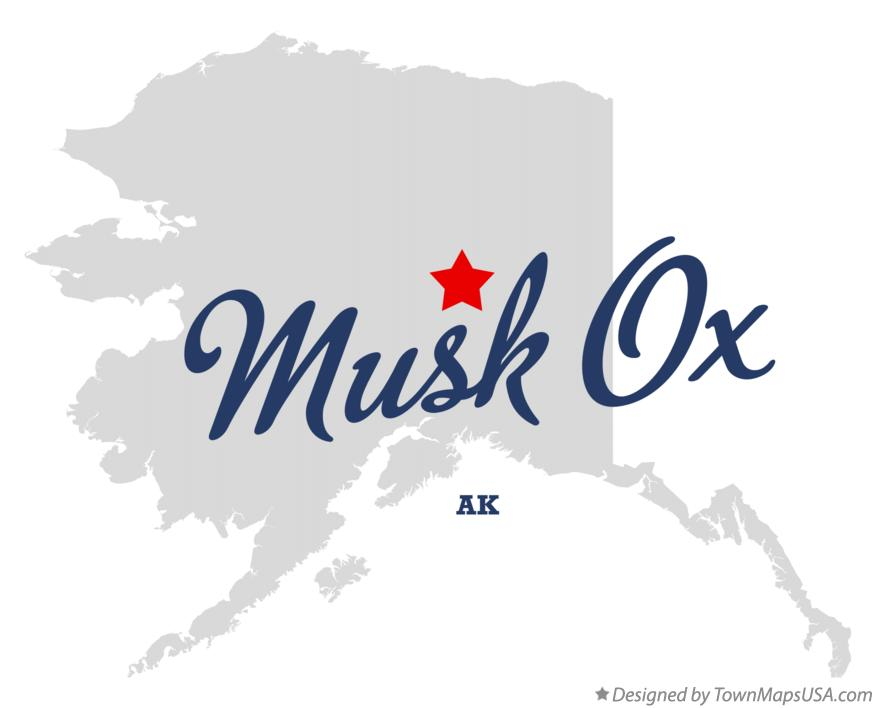 Map of Musk Ox Alaska AK