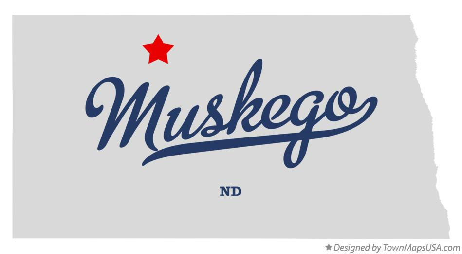 Map of Muskego North Dakota ND