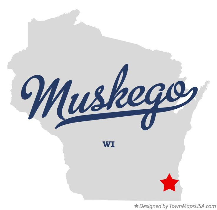 Map of Muskego Wisconsin WI