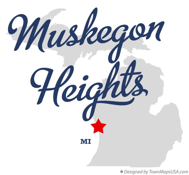 Map of Muskegon Heights Michigan MI