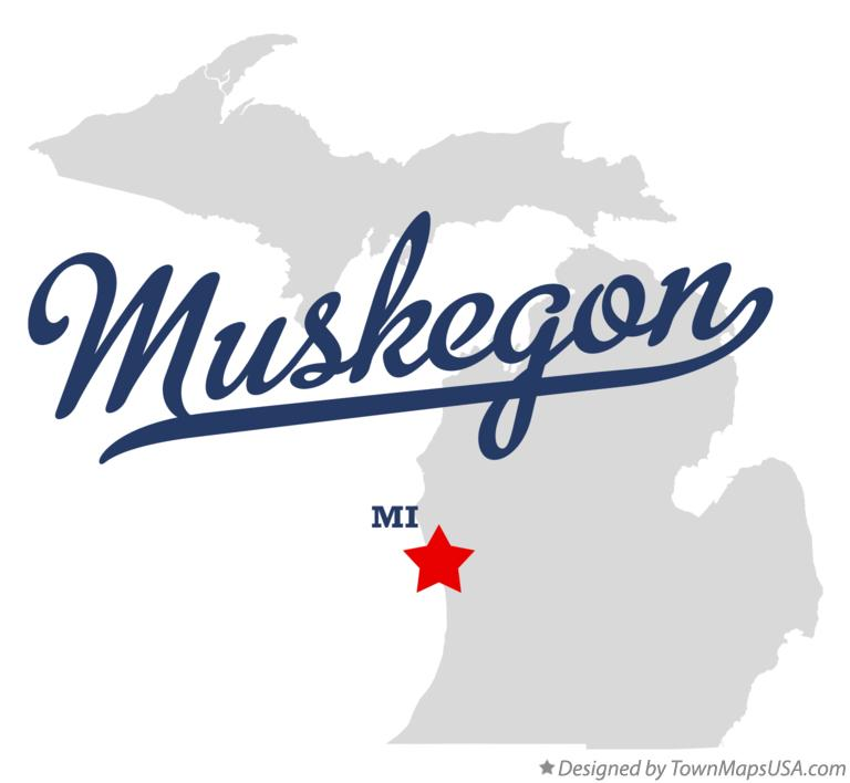 Map Of Muskegon Mi Michigan