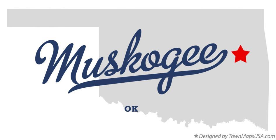 Map of Muskogee OK Oklahoma