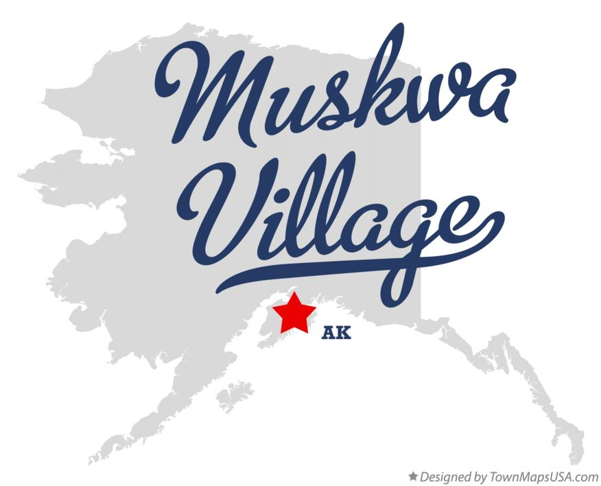 Map of Muskwa Village Alaska AK