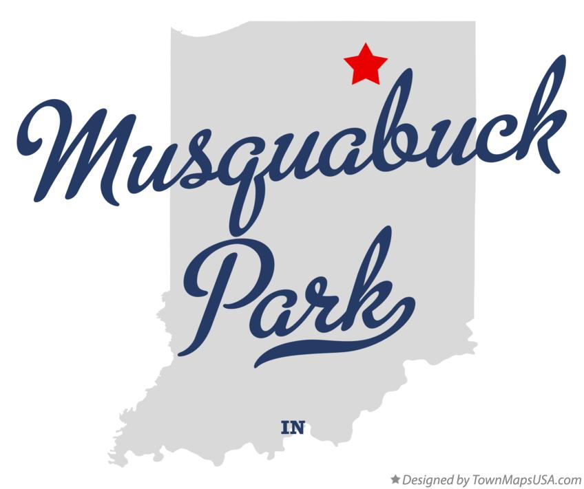 Map of Musquabuck Park Indiana IN