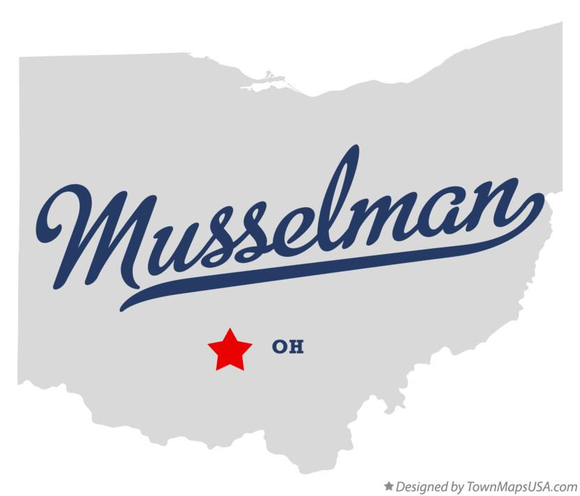 Map of Musselman Ohio OH