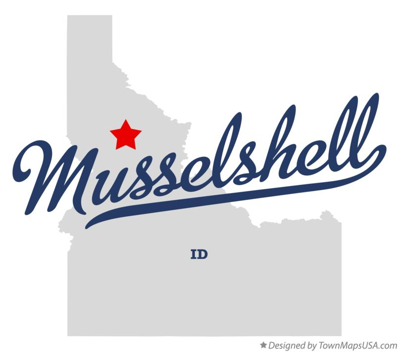 Map of Musselshell Idaho ID