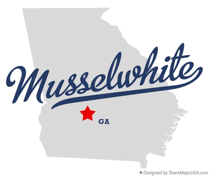 Map of Musselwhite Georgia GA