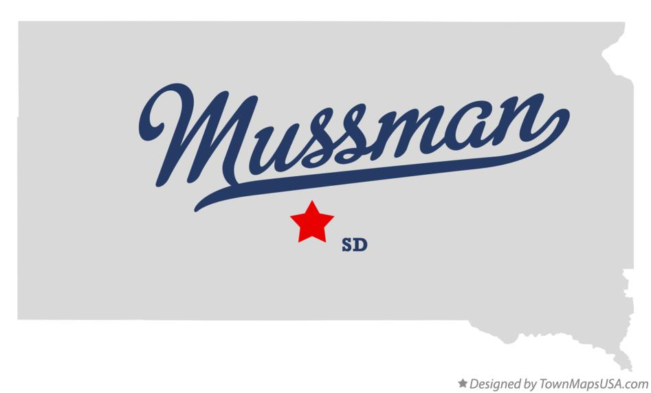 Map of Mussman South Dakota SD