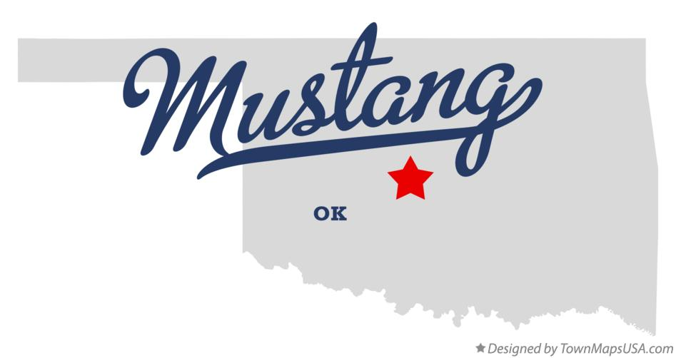 Map Of Mustang Ok Oklahoma