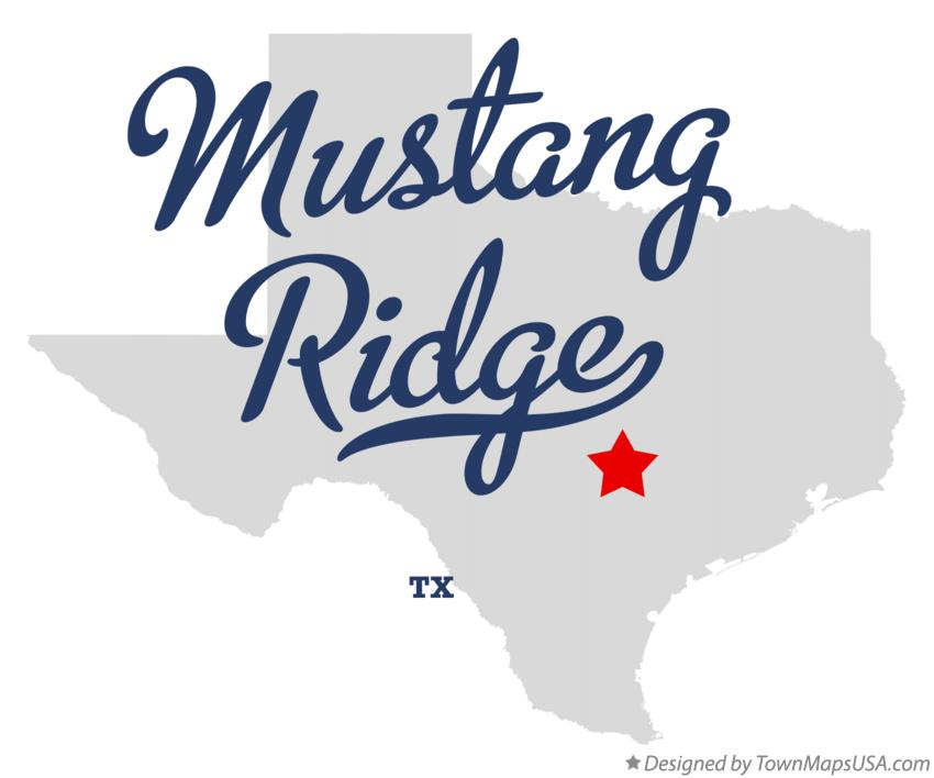 Map of Mustang Ridge Texas TX