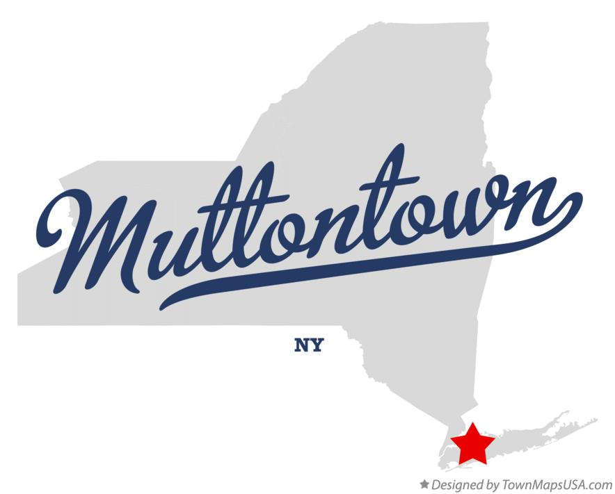 Map of Muttontown New York NY