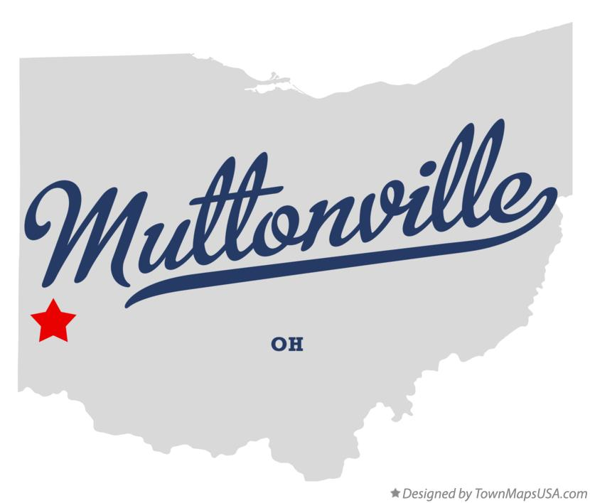 Map of Muttonville Ohio OH
