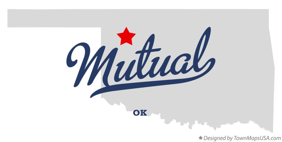 Map of Mutual Oklahoma OK
