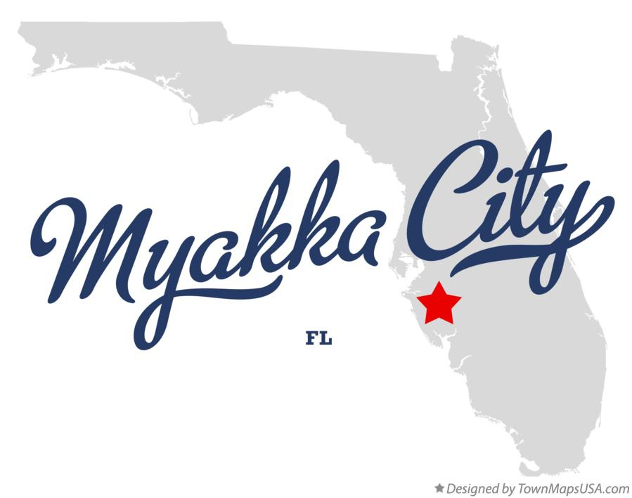 Map of Myakka City Florida FL