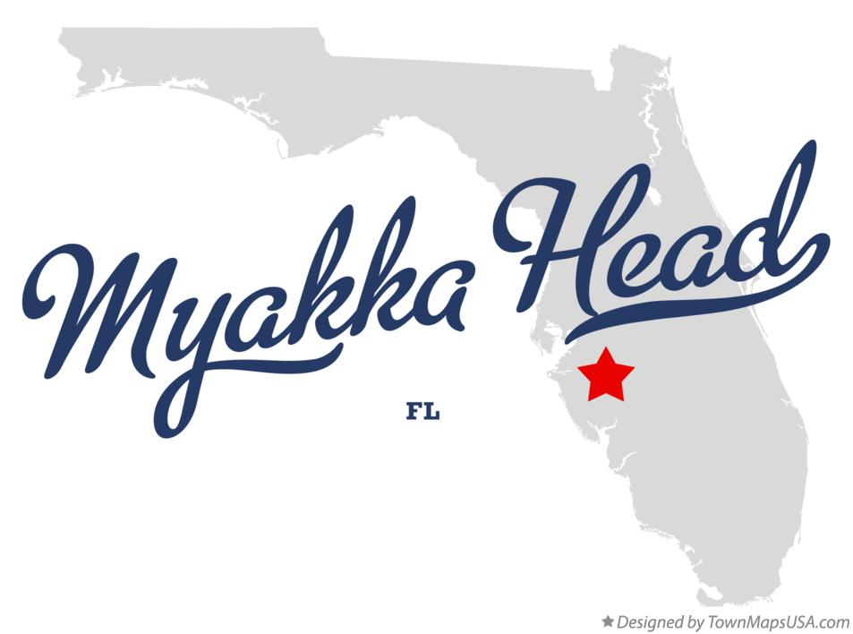 Map of Myakka Head Florida FL