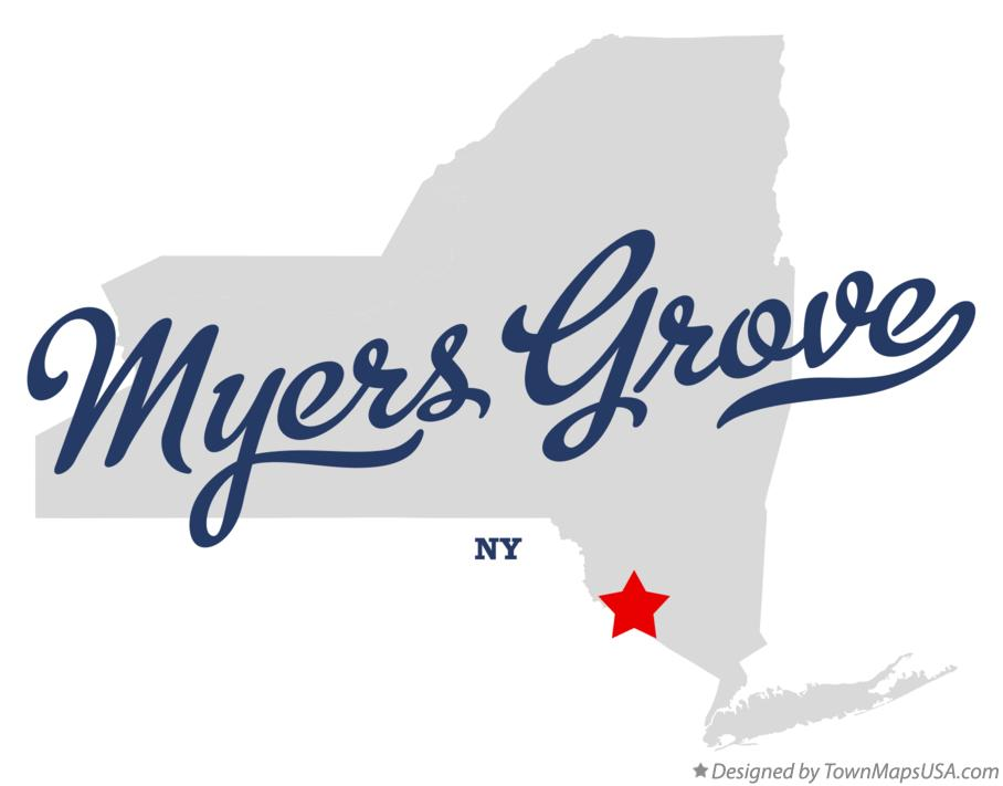 Map of Myers Grove New York NY