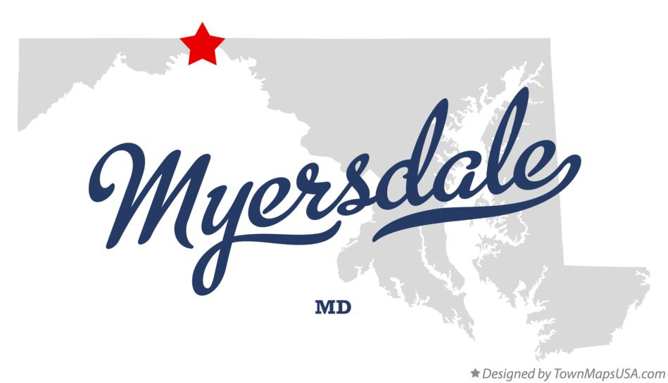 Map of Myersdale Maryland MD