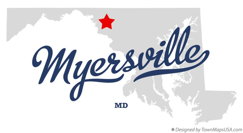 Map of Myersville Maryland MD