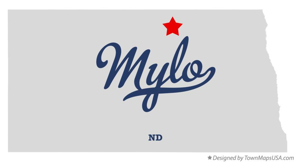 Map of Mylo North Dakota ND