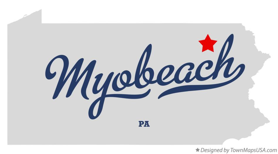 Map of Myobeach Pennsylvania PA