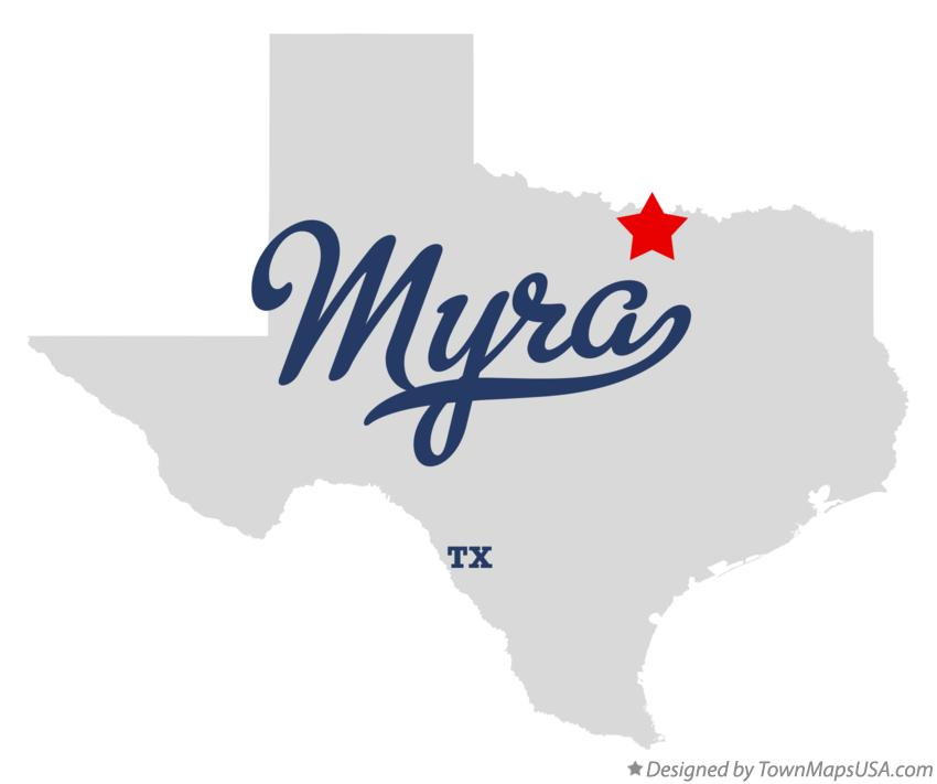 Map of Myra Texas TX