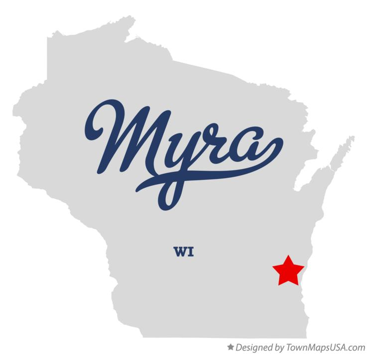 Map of Myra Wisconsin WI