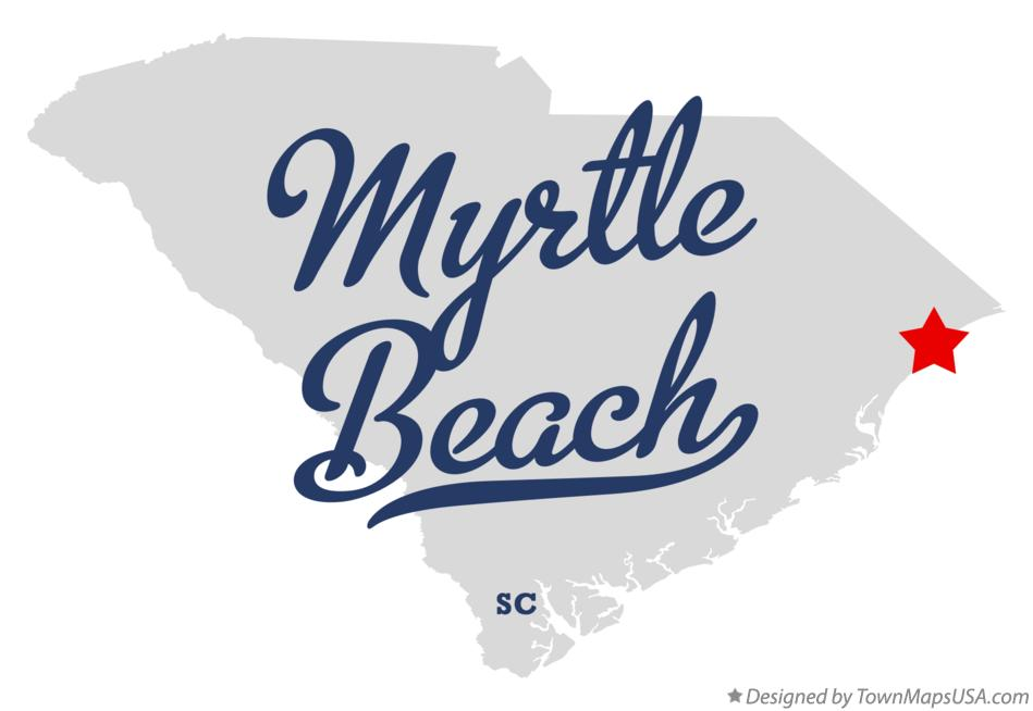 Map Of Myrtle Beach South Carolina SC