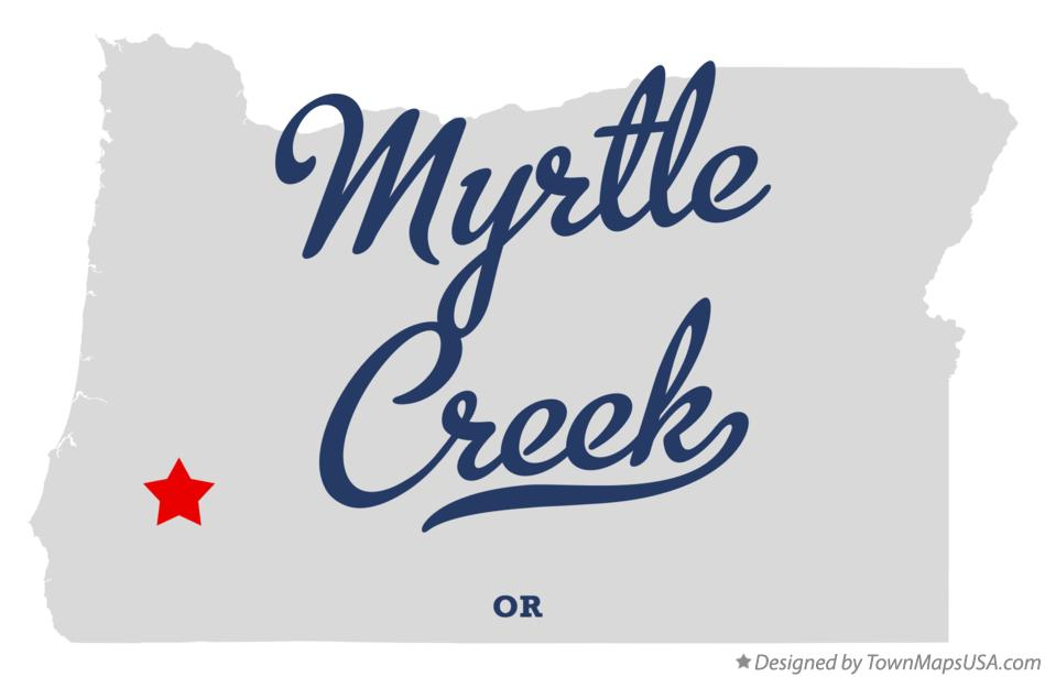 Map of Myrtle Creek Oregon OR
