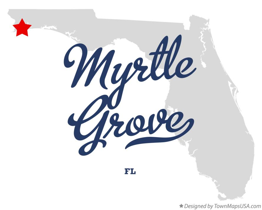 Map of Myrtle Grove Florida FL
