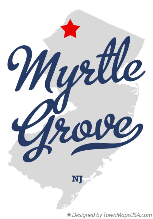 Map of Myrtle Grove New Jersey NJ