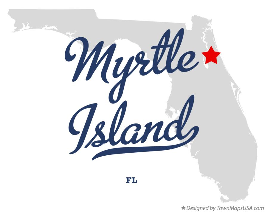 Map of Myrtle Island Florida FL