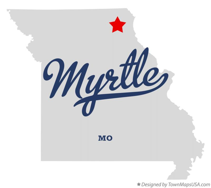 Map of Myrtle Missouri MO